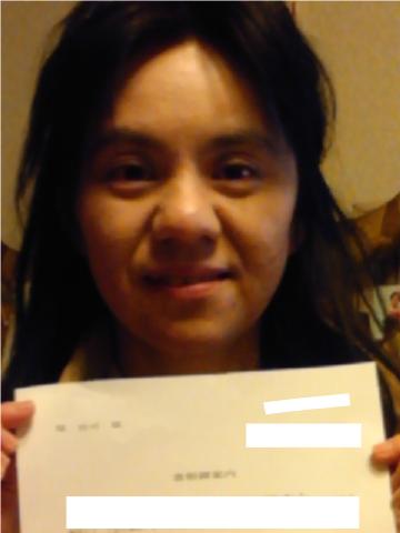 堤さんの写真と採用通知書